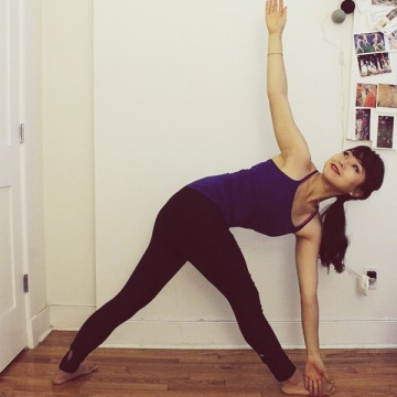 Yoga for Acne | Revolved triangle