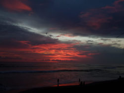 Stunning sunset from Canggu Bali Indonesia