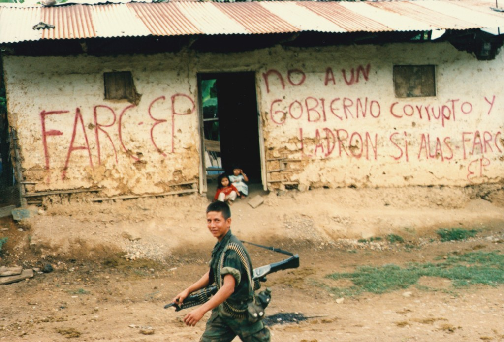 House with FARC Slogan