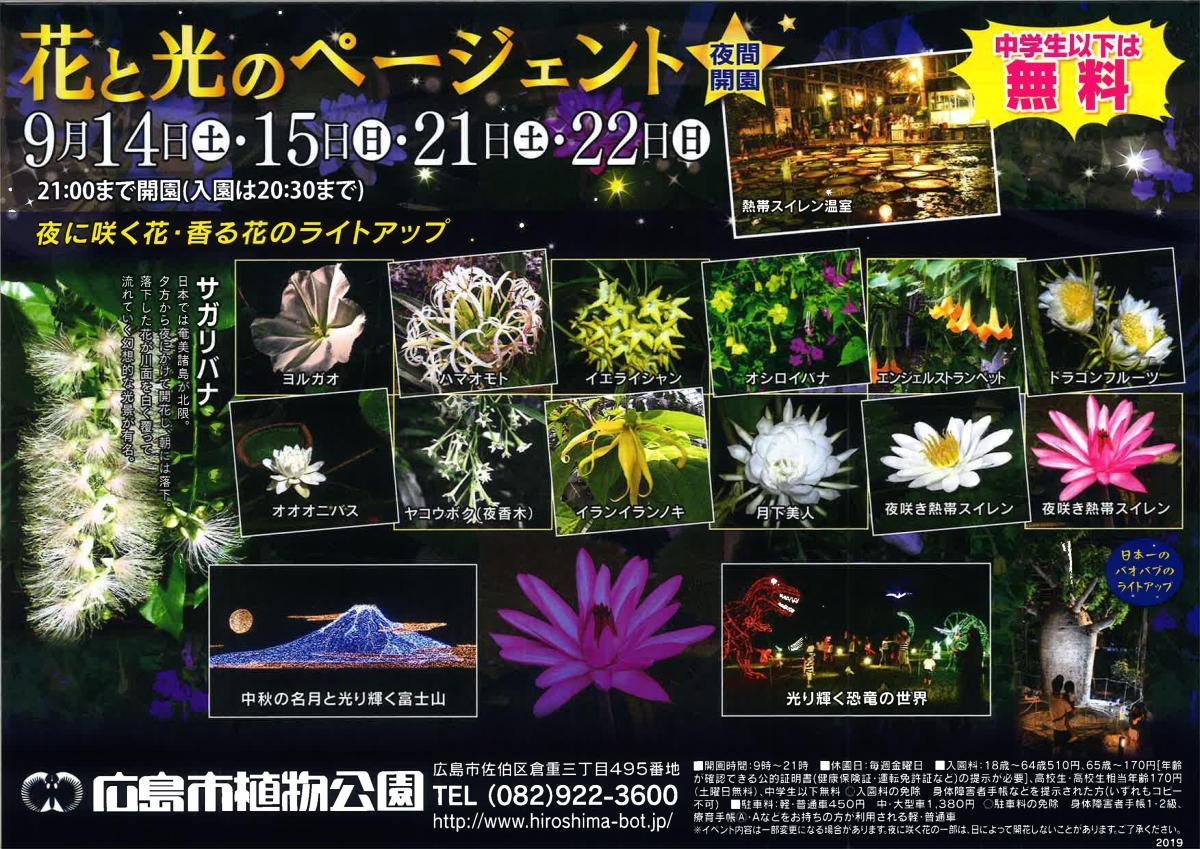 花と光のページェント(夜間開園)