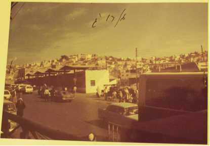 Hebron's central bus station in the 1980s