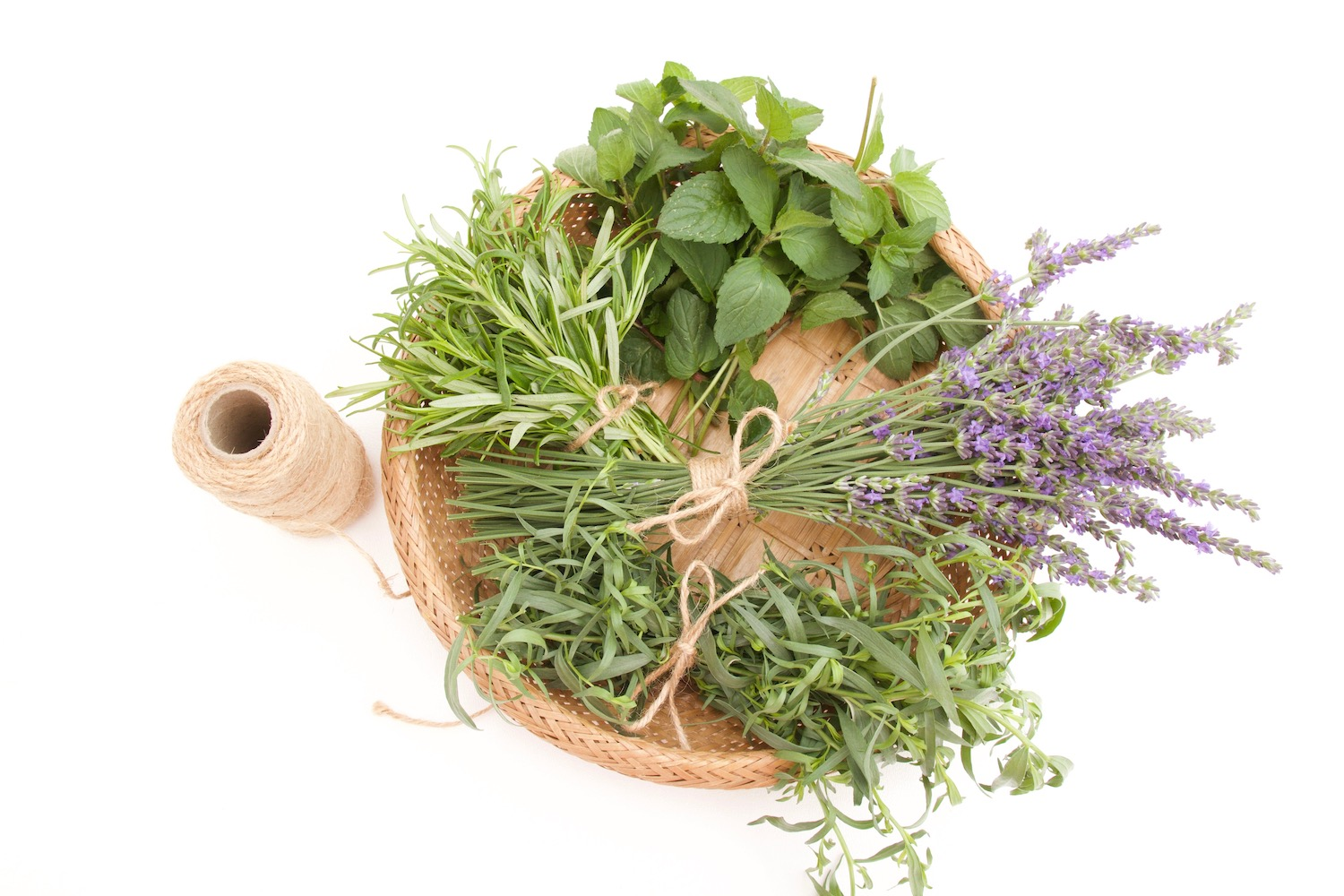 cut herbs and lavender