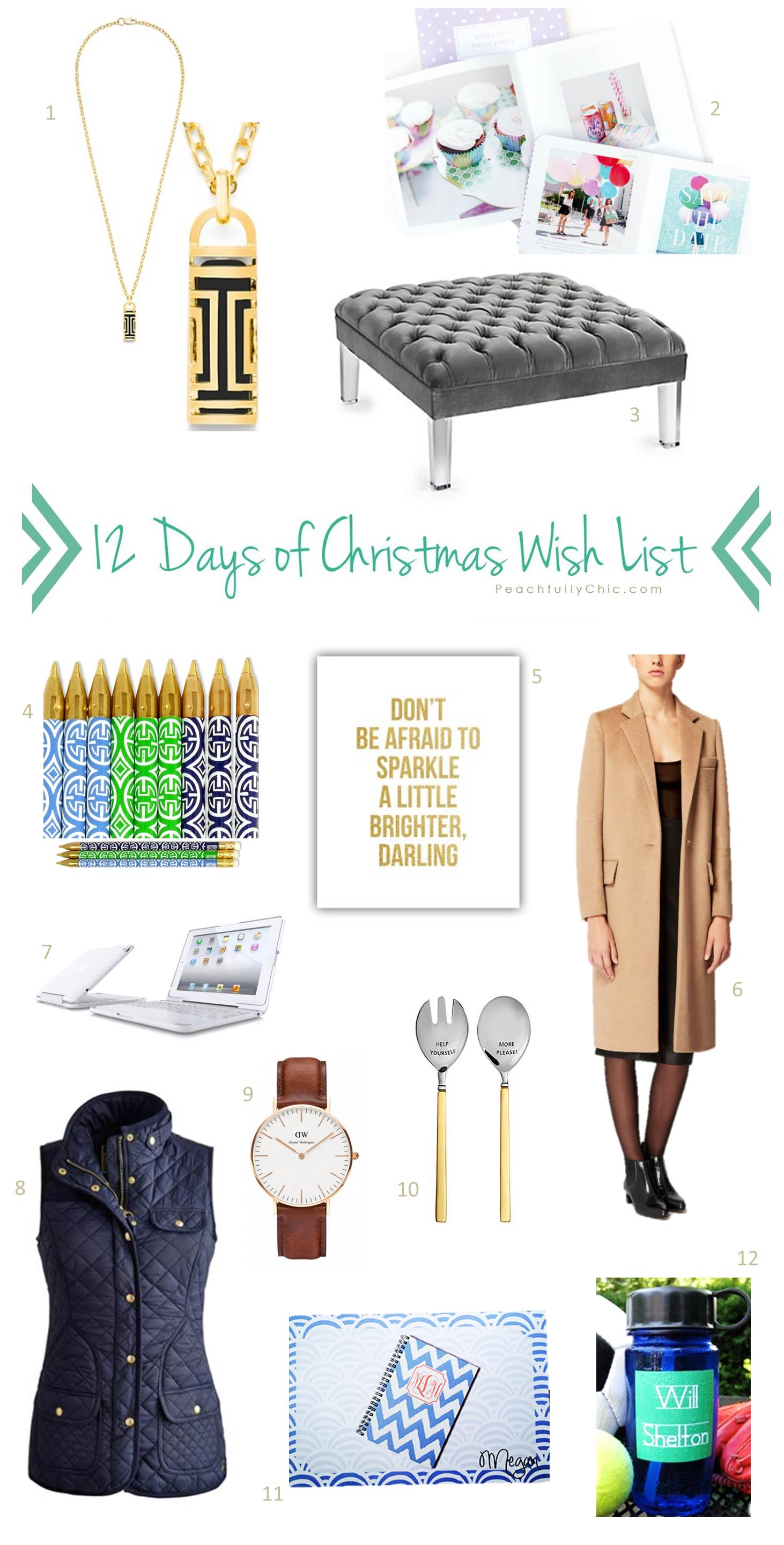Twelve Days Of Christmas Wish List
