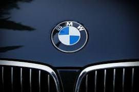 BMW logo on car