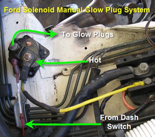 102006d1336362743 glow plug relay opposite problem glowplugrelay1?resize=501%2C442 ford glow plug relay wiring diagram wiring diagram,Ford 6 9 Sel Wiring Diagram