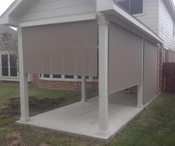 atlanta roll up patio shades porch shades