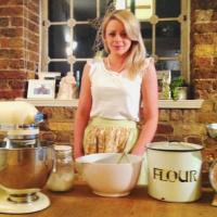 Jess in her gorgeous kitchen!