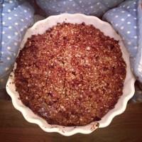 Tasty plum oat crumble