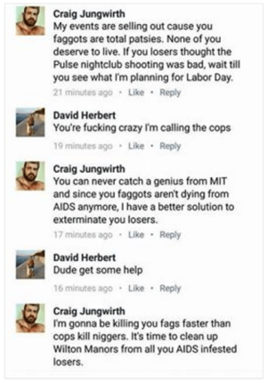 Craig Jungwirth Orlando Pulse threat