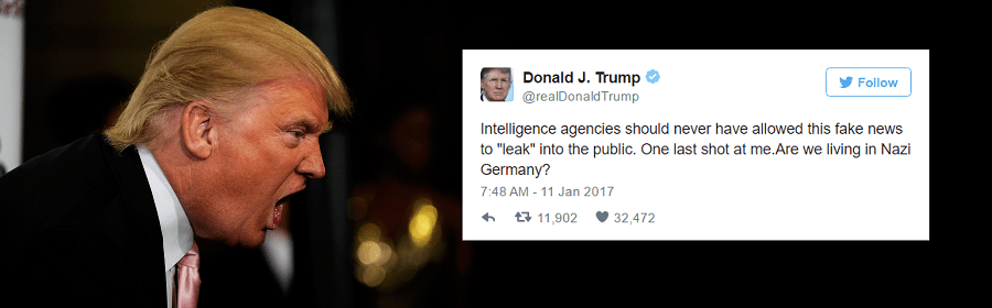 Trump Compares US to Nazi Germany After Intelligence Leak