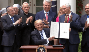 religious liberty executive order signing