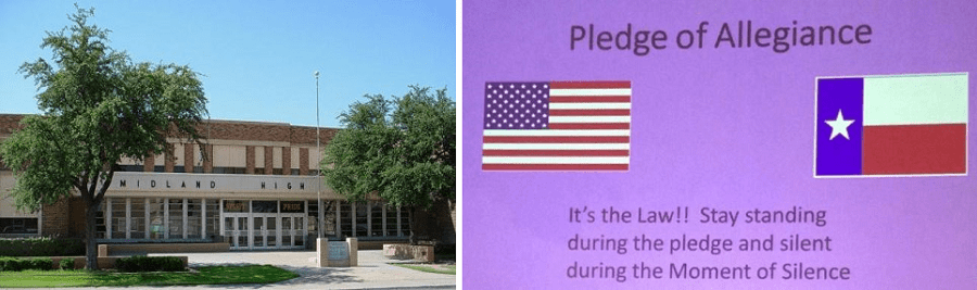 Texas School Falsely Tells Students Pledge is Legally Mandatory