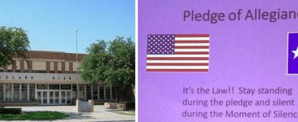 Midland High School in trouble again over compelling students to say the Pledge of Allegiance