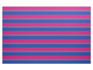 bisexual pride flag fabric, with alternating stripes of pink, purple, and blue