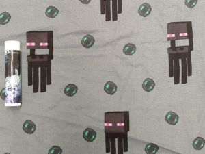 Minecraft Endermen in black on grey