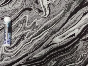 black and white marbled pattern
