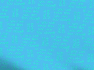 """teal text """"If you can read this, you are too close! Back off!"""" on a blue background"""