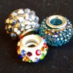 beads with very sparkly insets