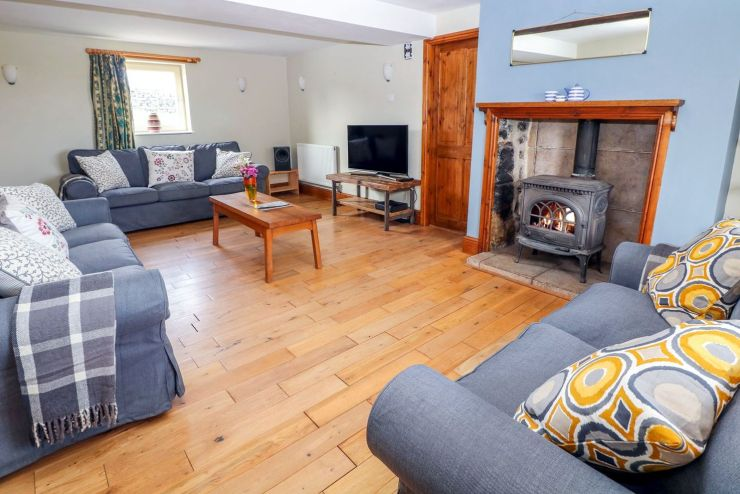 Sitting Room with Log Burner