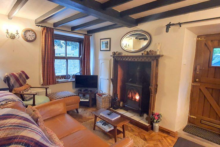 Stanton Cottage - Sitting Room with Log Burning Stove