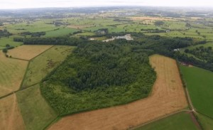 Aerial view of the Fauld Crater near our fireworks storage site