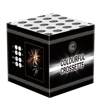 Colourful Crosette firework for sale