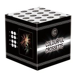 Colourful Crosette firework for sale
