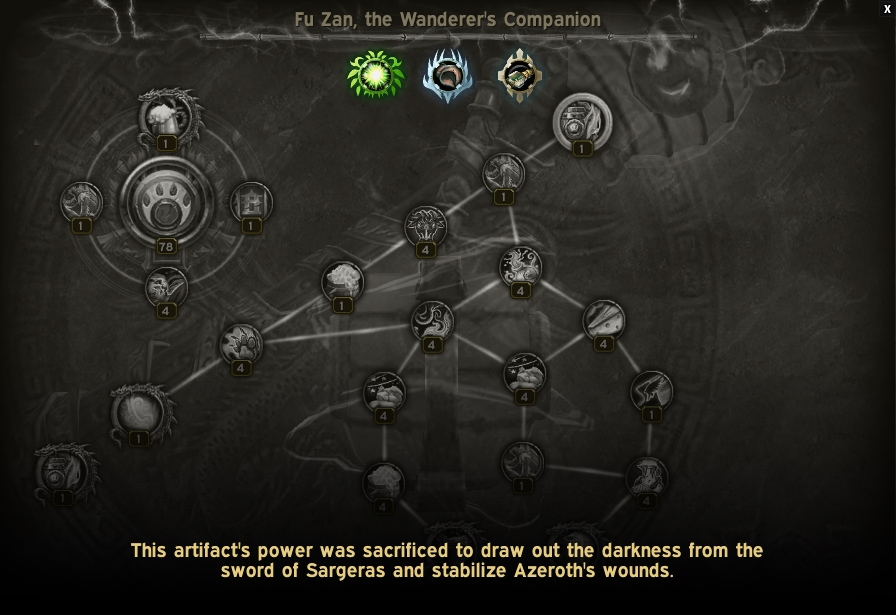 The message players will see when viewing an artifact's traits