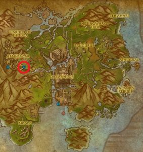 Atal'Dazar world map location
