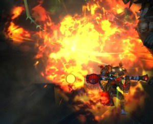 Burning a Deathtouched Slaver in Waycrest Manor