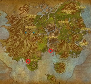MOTHERLODE's two entrances on the world map