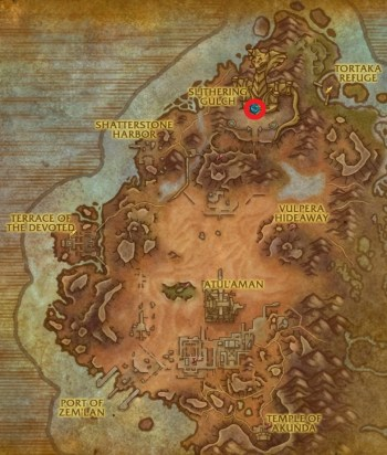 The location of Temple of Sethraliss on the world map
