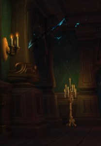 The telltale sign of an invisible witch spawn in Waycrest Manor