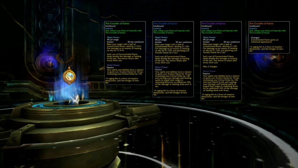 Blizzard's example titan essence tooltips for patch 8.2