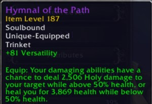 a trinket tooltip in Patch 9.0.5