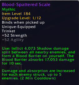 an item tooltip in Patch 9.0.5. showing its Valor Upgrade level
