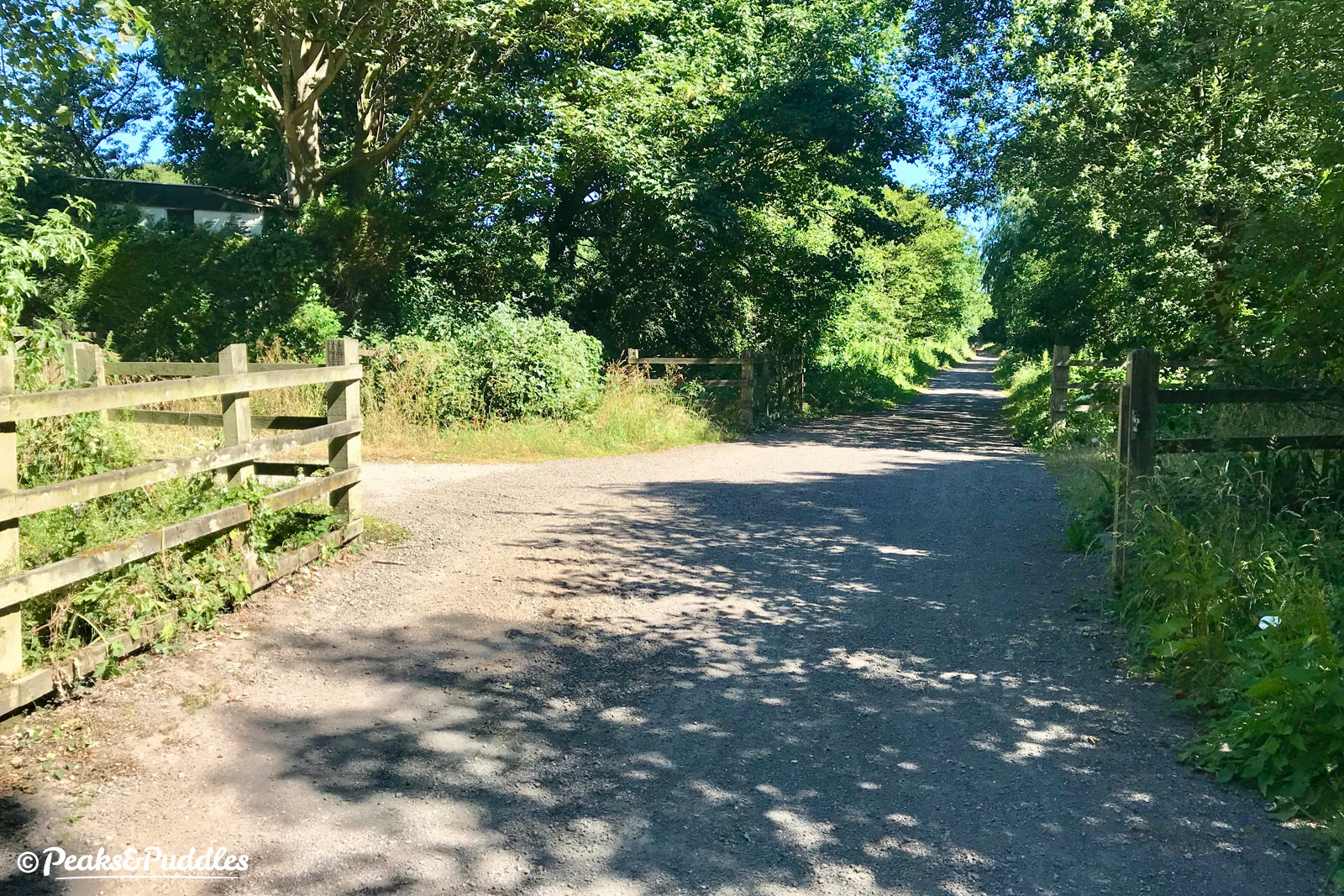 A series of gates used to narrow the trail at several points leaving Marple, but a recent upgrade project has seen the path completely widened out.