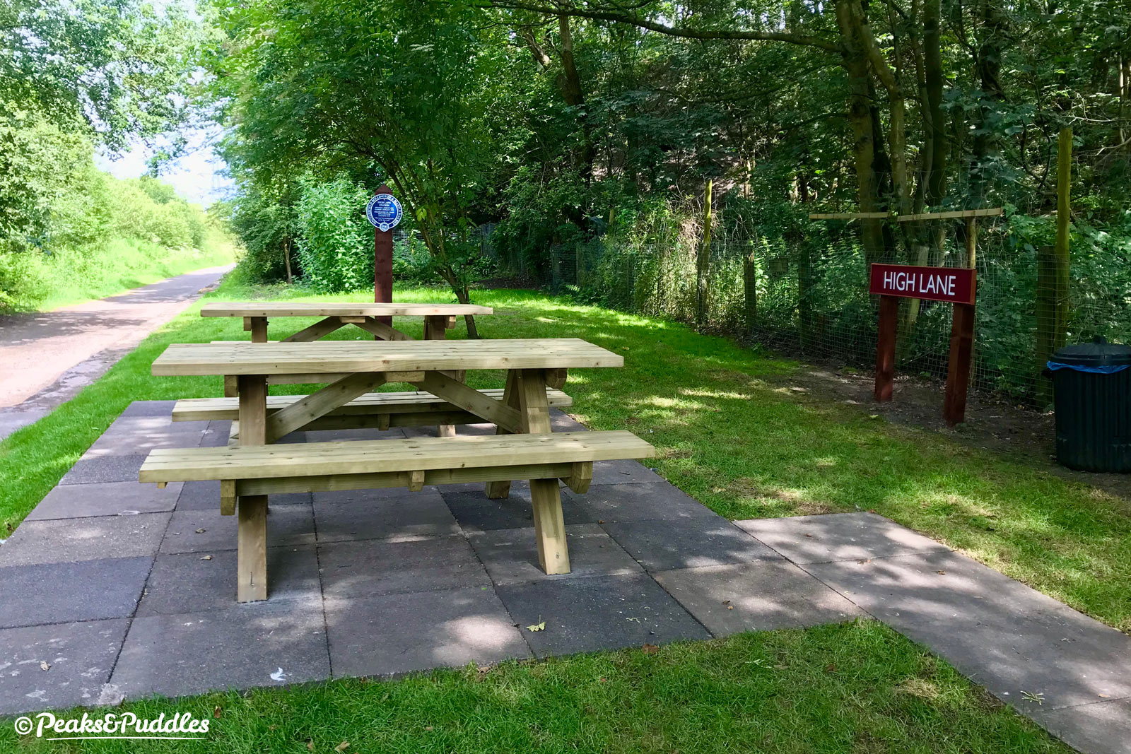 For the 150th anniversary of the Macclesfield, Bollington and Marple railway, volunteers cleared years of vegetation overgrowth to bring back a delightful picnic stop at the former High Lane railway station.