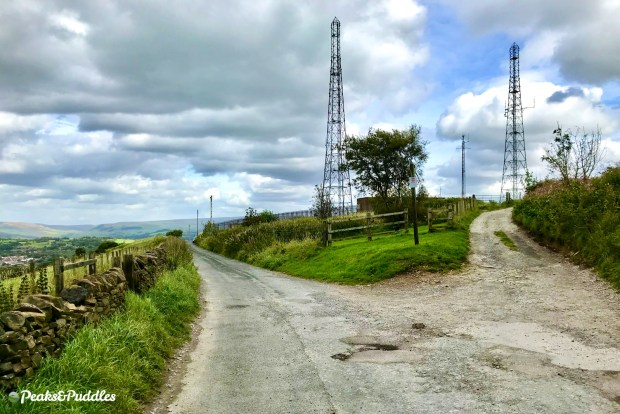 Idle Hill communication towers on Werneth Low