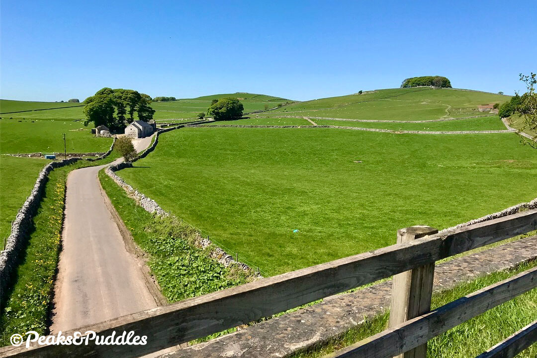 Liffs Road is a good leisurely route to loop back via Biggin and Long Dale.