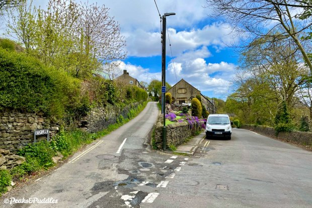 Looking at first like a private driveway climbing up the hillside, Sitch Lane in Thornsett is the first major climb of the route
