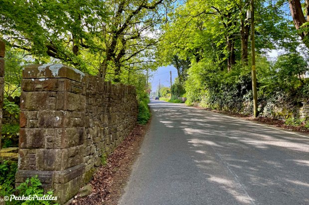 Climbing Elnor Lane out of Whaley Bridge towards Shallcross and Fernilee.