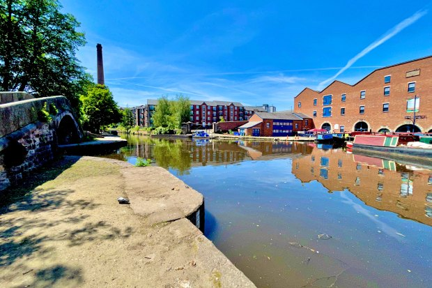 The Peak Forest Canal ends at Dukinfield Junction, where it meets the Ashton Canal opposite the warehouse now housing Portland Basin Museum.