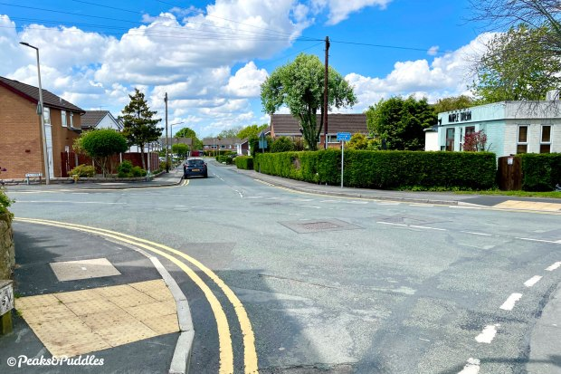 Back amongst Marple's suburbia in the Peacefield area, continue straight on at the bend in Buxton Lane to head back to Middlewood Way where the route began.
