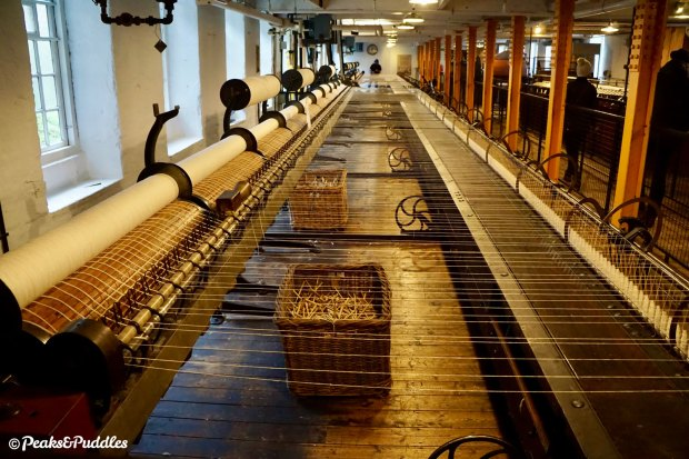 Enormous, dangerous cotton spinning machines inside Quarry Bank Mill (entry fee required).