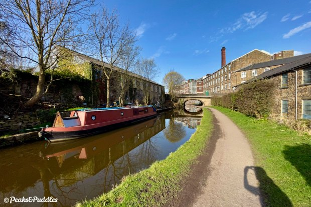 The Swizzels Matlow factory (formerly Brunswick Mill) and Bridge 28 from New Mills Marina. The sweet smell of Love Hearts can carry for up to a mile in the air around here.