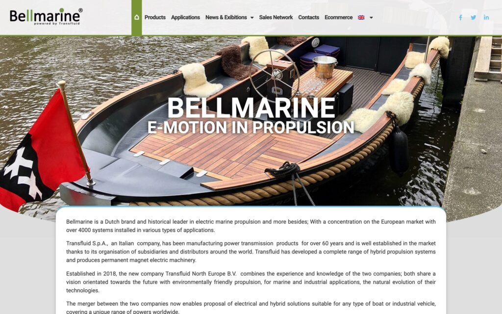 Screenshot Bellmarine.tech En 2