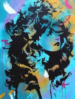 la déesse est une peinture streetart par peam's streetartiste et artiste urbain pop art