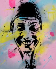 la nageuse est une peinture streetart par peam's streetartiste et artiste urbain pop art
