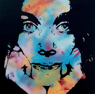 la rêveuse est une peinture streetart par peam's streetartiste et artiste urbain